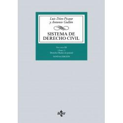 Sistema de Derecho civil. Volumen III. Tomo 1. Derechos Reales en general