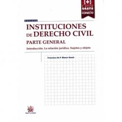 Instituciones de derecho civil. Parte General