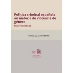 Política criminal española en materia de violencia de género