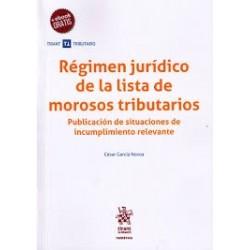 Régimen jurídico de la lista de morosos tributarios