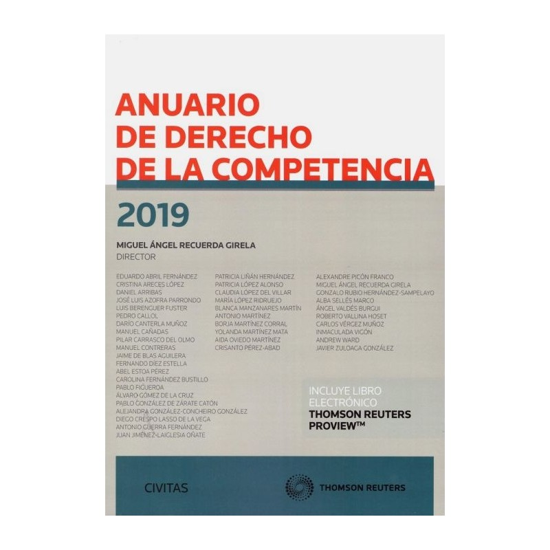 Anuario de derecho de la competencia 2019