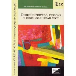 Derecho Privado, Persona y Responsabilidad Civil