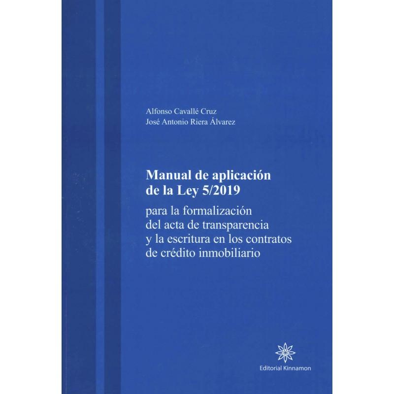 Manual de Aplicación de la Ley 5/2019