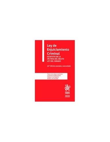 Ley de Enjuiciamiento Criminal Básica Tirant