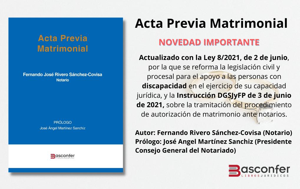 ACTA PREVIA MATRIMONIAL